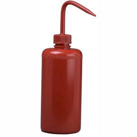 Bel-Art Red LDPE Wash Bottles 116500016, 500ml, Red Cap, Narrow Mouth, 6/PK