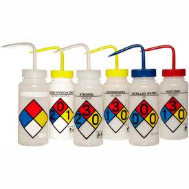 Bel-Art LDPE Wash Bottles 117160050, 500ml, Assortment Label, Wide Mouth, 6/PK