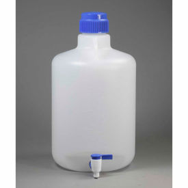 Bel-Art Autoclavable Carboy with Spigot 118460050, Polypropylene, 20 Liters, White, 1/PK