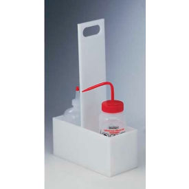 "Bel-Art HDPE Two Bottle Carrier 169620002, 9""L x 4""W x 15-1/4""H, White, 1/PK"