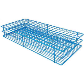 "Bel-Art Poxygrid ""Rack And A Half"" Test Tube Rack, For 15-16mm Tubes, 180 Places, Blue, 1/PK by"