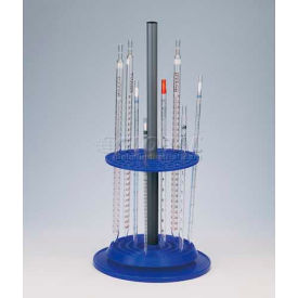 """Bel-Art Rotary Pipette Stand 189570000, Polypropylene, 94 Places, 9"""" Dia. x 18-3/4""""H, Blue, 1/PK by"""