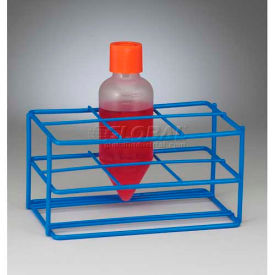 Bel-Art Centrifuge Tube Rack 198560250, For Conical/Round Bottom 250ml Tubes, 6 Places, Blue, 1/PK