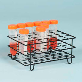 Bel-Art Poxygrid 50ml Centrifuge Tube Rack 198580001, For 25-30mm Tubes, 24 Places, Black 1/PK by