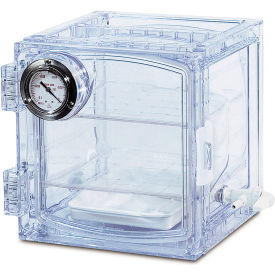 Bel-Art F42400-4001 Lab Companion Clear Polycarbonate Vacuum Desiccator Cabinet, 11 Liter by