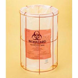 "Bel-Art Poxygrid® Wire Bag Holder 131870000, Fits 12""W x 24""H Bags, Orange, 1/PK"
