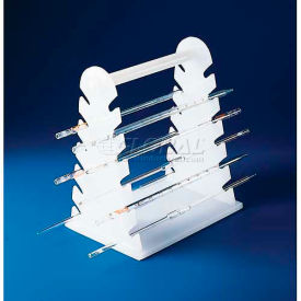 "Bel-Art Pipette Support Rack 189600000, Polyethylene, 12 Places, 9-1/2""L x 7""W x 11-1/2""H, 1/PK"