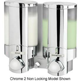 Aviva III Chrome, Translucent Bottles With Chrome Buttons/Locking Lid - Pkg Qty 6