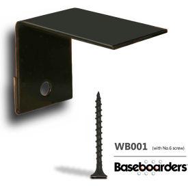Baseboarders® Wall Bracket With One No. 6 Screw WB001 - Alternative Installation Method