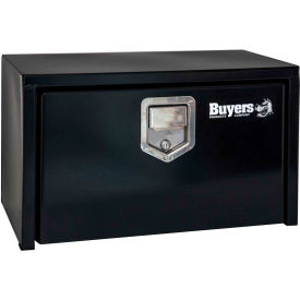 Buyers Steel Underbody Truck Box w/ Stainless Steel Rotary Paddle - Black 18x18x24 - 1702100