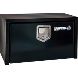 Buyers Steel Underbody Truck Box w/ Stainless Steel Rotary Paddle - Black 18x18x36 - 1702105