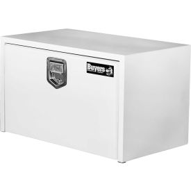 Buyers Steel Underbody Truck Box w/ Stainless Steel Rotary Paddle - White 18x18x36 - 1702205