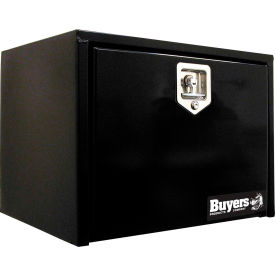 Buyers Steel Underbody Truck Box w/ Stainless Steel T-Handle - Black 18x18x24 - 1702300