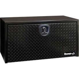 Buyers Diamond Tread Aluminum Underbody Truck Box w/ T-Handle - Black 18x18x36 - 1702505