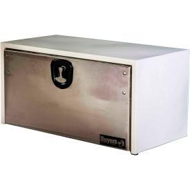 Buyers Steel Underbody Truck Box w/ SS Door - White 18x18x36 - 1702805
