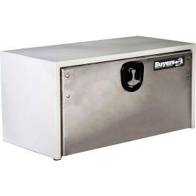 Buyers Steel Underbody Truck Box w/ SS Door - White 18x18x48 - 1702810