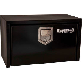 Buyers Steel Underbody Truck Box w/ Stainless Steel Rotary Paddle - Black 14x16x24 - 1703100