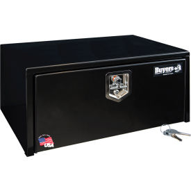 Buyers Steel Underbody Truck Box w/ Stainless Steel T-Handle - Black 14x16x30 - 1703303