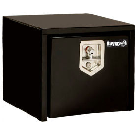 Buyers Steel Underbody Truck Box w/ Stainless Steel T-Handle - Black 16 x 14 x 18 - 1703330
