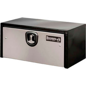 Buyers Steel Underbody Truck Box w/ SS Door - Black 14x16x30 - 1703703