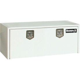 Buyers Steel Underbody Truck Box w/ Stainless Steel T-Handle - White 18x24x48 - 1708410