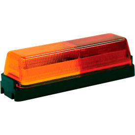 """Buyers 3.75"""" Amber/Red Rectangular Marker/Clearance Light Kit With Plug/Bracket - 5623711 - Pkg Qty 10"""