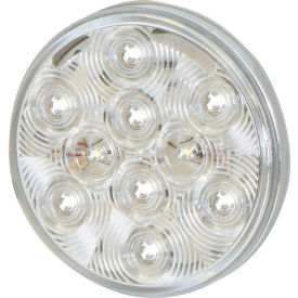 """Buyers 4"""" Clear Round Interior Dome Light With 10 LED and White Housing - 5624352 - Pkg Qty 10"""
