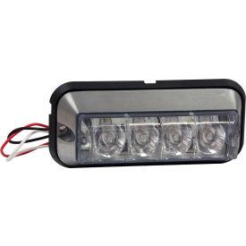 """4-7/8"""" Rectangular 4 LED Amber Strobe Light - 8891004"""