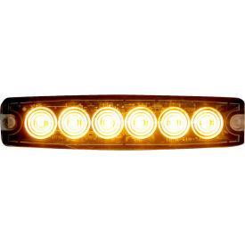 "Buyers 5.14"" Amber Surface Mount Ultra-Thin LED Strobe Light - 8892200"
