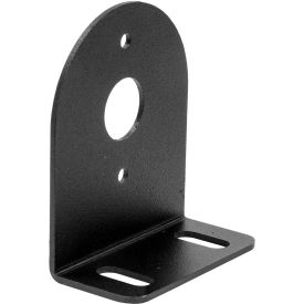 """Buyers Black Mounting Bracket For 1"""" Round Surface/Recess Mount Strobe Lights - 8892425"""