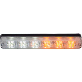 "Buyers 5.19"" Amber/Clear Low Profile Strobe for Narrow Grill Spacing With 6 LED - 8892802"