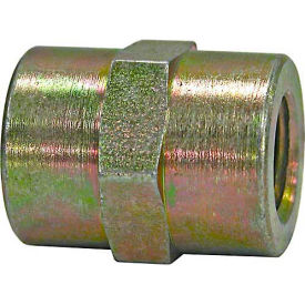 """Buyers Connector Coupling, H3309x6x4, 1/4"""" X 3/8"""" Npt Female To Female - Min Qty 22"""