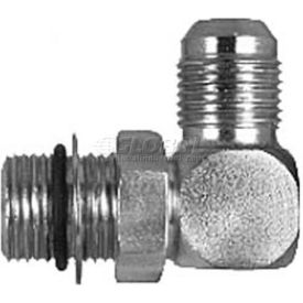 """Buyers Straight Thread O-Ring 90° Elbow, H5515x6x8, 3/8"""" Tubeo.D., 1/2"""" Port Size - Min Qty 13"""