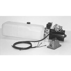 """Click here to buy Buyers Electric 4-Way Function DC Power Unit, PU642LR, 1.87 Gal Poly Reservoir, .250"""" NPTF Outlets."""