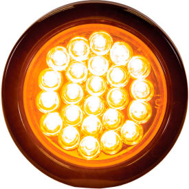 """Buyers 4"""" Amber Round Recessed Strobe Warning Light With 24 LED - SL41AR"""