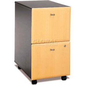 Bush Furniture Two Drawer File (Unassembled) - Beech - Series A
