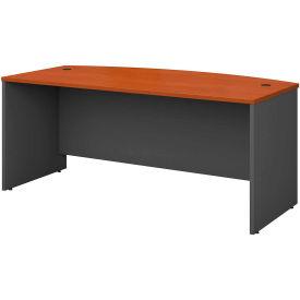Series C Auburn Maple Bow Front Desk