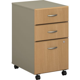 Series A Light Oak Three-Drawer File (Setup)