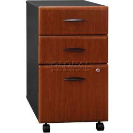 Bush Furniture Three Drawer File Cabinet (Unassembled)- Hansen Cherry - Series A