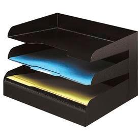 Classic™ 3 Tier Letter Size Horizontal Desk Tray - Black