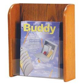 Single Pocket Literature Organizer - Medium Oak