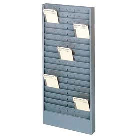 Buddy Products Time Card Rack with Adjustable Pockets - Gray