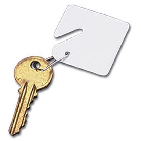 Sandusky Buddy 0010 15 Blank Plastic Key Tags White Package Count 12 by