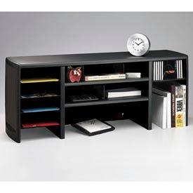 "47"" Metal Desk Space Saver - Black"