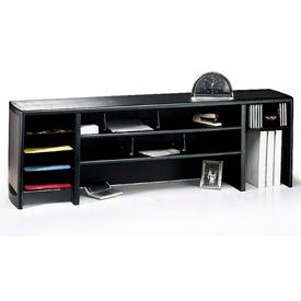 "58"" Metal Desk Space Saver - Black"