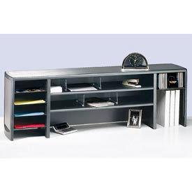 "58"" Metal Desk Space Saver - Platinum and Graphite"