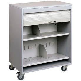 Buddy Products 5424-32 Locking HIPAA Medical Cart - Platinum