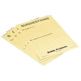 Suggestion Cards for Suggestion Boxes 50 per Pack - Yellow - Pkg Qty 12