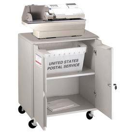 Buddy Products 9142-18 Locking Mail Storage Cart - Gray