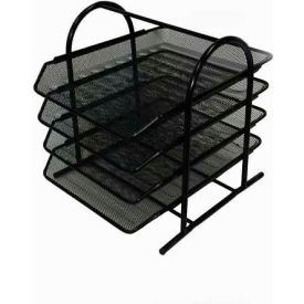 Mesh 4-Tier Letter Tray